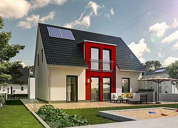Fertighaus Flair 125 - gebautes Massivhaus in Landkreis Minden-Lübbecke